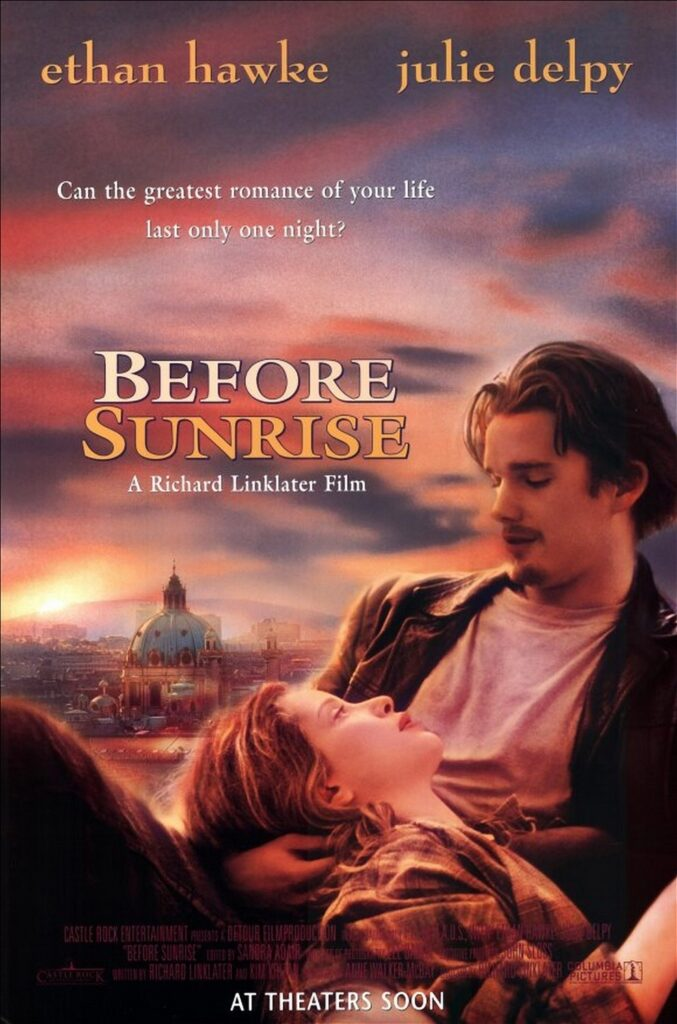 This image has an empty alt attribute; its file name is before-sunrise-movie-poster-01-677x1024.jpg